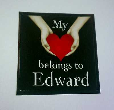TWILIGHT MY HEART BELONGS TO EDWARD Kristen Pattinson Heart Hands Cullen Sticker
