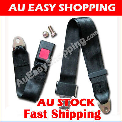 UNIVERSAL TRAVEL ADJUSTABLE TWO POINT 2 POINT CAR TRUCK SEAT BELT LAP  Safety