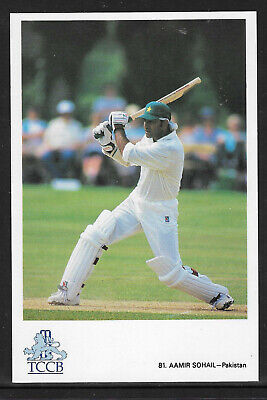 Aamir Sohail Pakistan Official Tccb Cricket Postcard