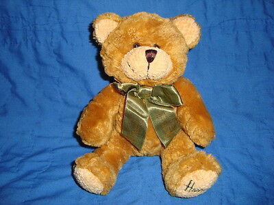 Harrods Knightsbridge Plush Teddy BearW/ Green Ribbon