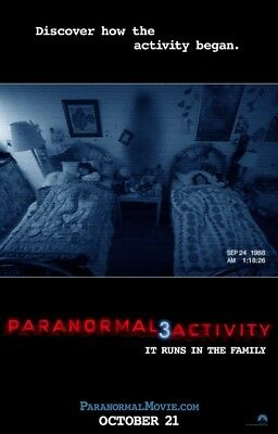 PARANORMAL ACTIVITY 3 MOVIE POSTER 2 Sided ORIGINAL Advance 27x40