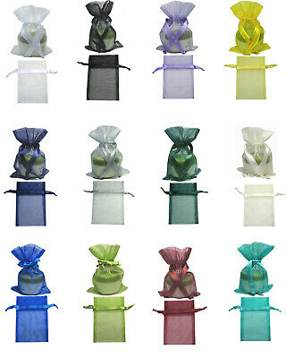 "BUY 4 GET 1 FREE 20pc 10x15cm 4""x6"" Premium Organza Gift Large Pouches Bags"