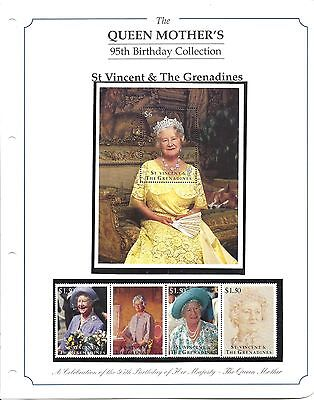 Stamps, The Queen Mother's 95th Birthday Collection, St Vincent & The Grenadines
