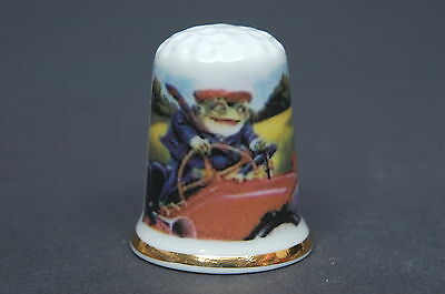 "Wind in The Willows Toad of Toad Hall "" Exclusive"" Bone China Thimble B/01"