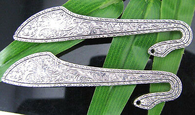 4pcs Tibetan Silver Classical lucky charm Bookmarks