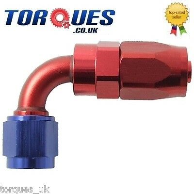 AN -10 (AN10 AN 10) 90 Degree Fast Flow Hose Fitting