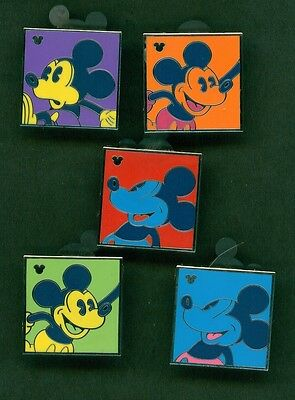 Disney Pins Hm Andy Warhol Inspired Complete 5 Pin Set