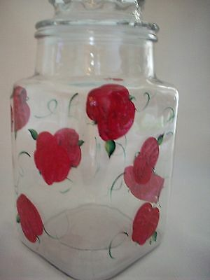 Hand painted Apple cookie jar