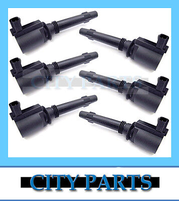 6 x NEW BA BF FORD FALCON 6cyl QUALITY IGNITION COIL (set of 6)