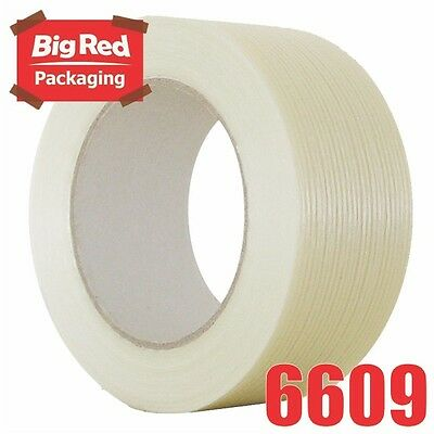 2 x Rolls of Filament Tape 48mm x 50m HIGH TENSILE Packaging Sticky Packing