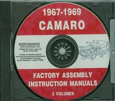 67 68 69 CAMARO//SS//Z28//RS ASSEMBLY MANUAL ON CD