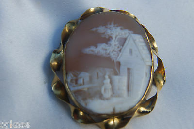 Landscape - REBECCA AT THE WELL - Cameo Pin/Brooch