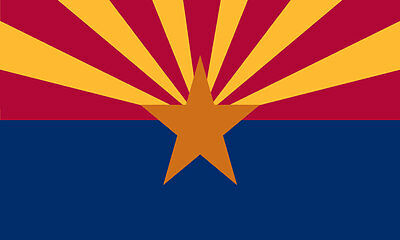 2x3 3x5 4x6 5x8 AZ Arizona Solar Max Nylon Outdoor Flag US Made Ships Same Day!