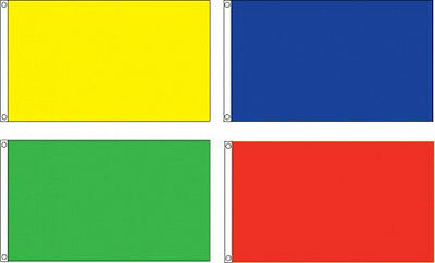 "Solid Color Blank Flags 12""X18"" 2x3 3x5 4X6 5X8 Nylon US MADE 12 COLORS CUSTOM"