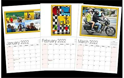 Custom Personalized 12 months 12 Photo Picture Message Calendar Gift. Wholesale.