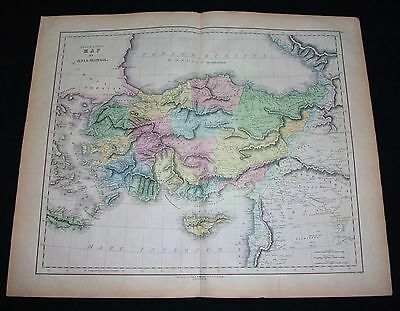 1850 GALL & INGLIS. Asia Minor Middle East Turkey Cypro Azerbaijan Armenia Syria