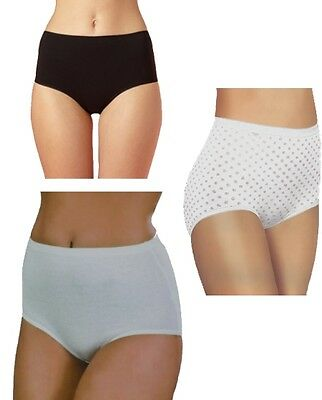 2Pk Women Ladies Girls Luxuriously Soft Cotton Rich Full Briefs Knicker Assorted