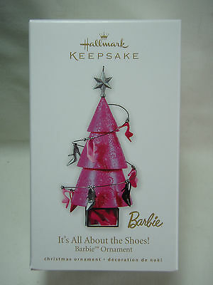 2010 Hallmark Keepsake Ornament It's All About The Shoes Barbie