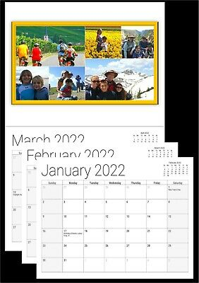 Custom Personalized 12 tear-off months 1 Photo Picture Message Calendar Gift.