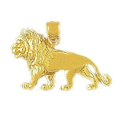 14k Yellow Gold LION Pendant / Charm, Made in USA