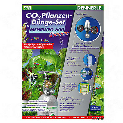 Dennerle CO2-Anlage Quantum 600 Special Edition 2000 g CO2-Flasche, Magnetventil