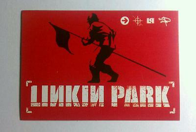 Linkin Park LP Hybrid Theory Man Flag Symbols Case Rare Red Sticker