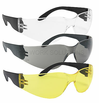 5 Pairs Blackrock Safety Glasses Work Spectacles Specs Clear Smoke Yellow Lens