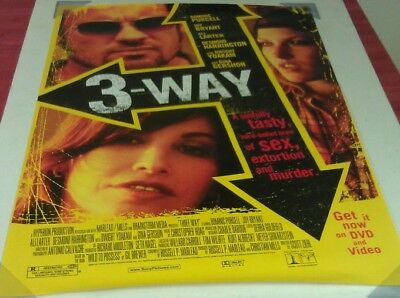 THREE WAY DVD MOVIE POSTER 1 Sided ORIGINAL 27x40 ALI LARTER