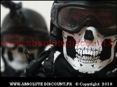 Tour De Cou Masque Tete De Mort Airsoft Paintball Ski Snow Surf Moto Scooter