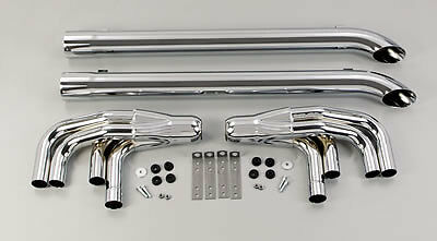 Patriot Exhaust H1165 Side Exhaust Lake Pipe 4 Steel Chrome  3.5 in. Pipe 63 in