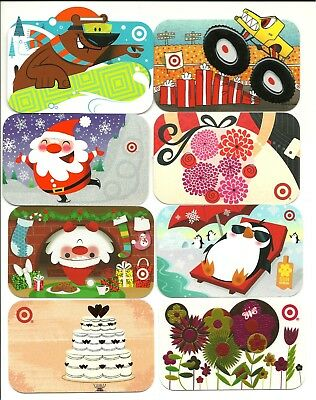 Lot of 8 Target Gift Cards Collectible No $ Value includes Monster Truck Penguin