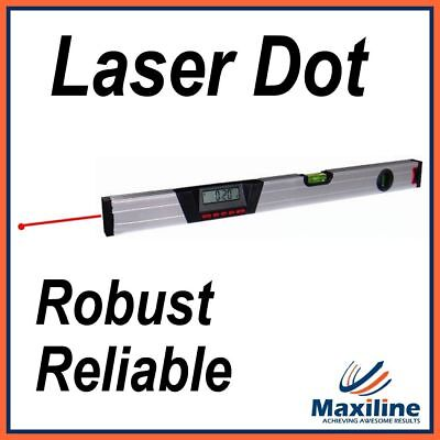 600MM Aluminium Digital Spirit Level with Inclinometer Laser Dot Robust Level
