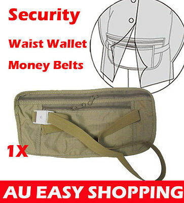 TRAVEL SECURITY POUCH BELT WAIST BAG hidden Wallet MONEY PASSPORT CARD TICKET