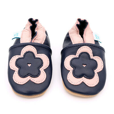Dotty Fish Soft Leather Baby & Toddler Shoes - Flower - 0-6 Months - 4-5 Years