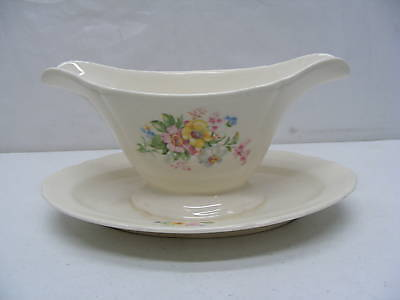 Edwin M Knowlez China Co Gravy Boat Semi Vitreous USA