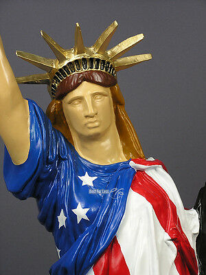 New York Freiheitsstatue Of Liberty Us Usa Flagge Fahne Figur Stehlampe Lampe