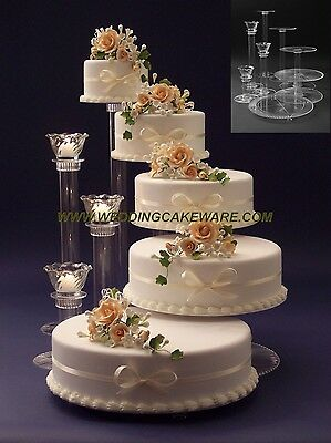 5 TIER WEDDING CAKE STAND STANDS / 3 TIER CANDLE STAND