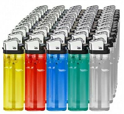 Un Briquet Jetable Neuf Couleur Bleue/vert/orange/rouge/transparent