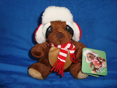 "Sears Raccoon 2009 Christmas Plush "" Reginald "" W/Tags"
