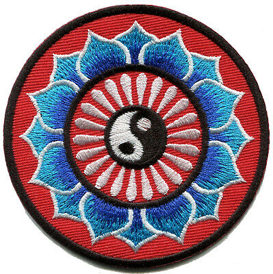Yin yang tao taoism peace trance boho hippie yoga applique iron-on patch G-61
