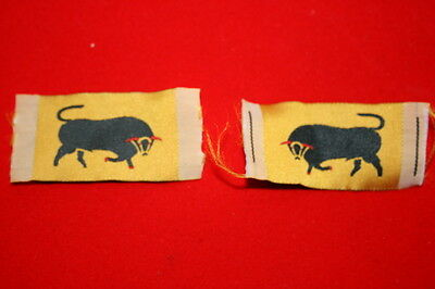 WWII WW2 BRITISH 11TH ARMOURED DIVISION SILK WOVEN CLOTH FORMATION SIGNS