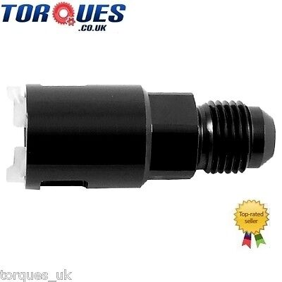 "AN -6 (-6AN JIC AN-06) Quick Connect 3/8"" Female Fuel Line / Rail Adapter BLACK"