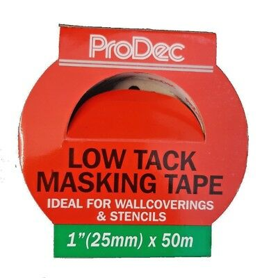 ProDec Low Tack Quality Masking Tape 25mm x 50m Decorating Painting (PLTT25)
