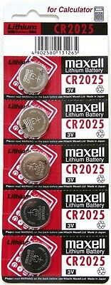 5 X Pilas De Boton Maxell Bateria Cr2025 De Litio 3V Lithium Battery Ecr2025