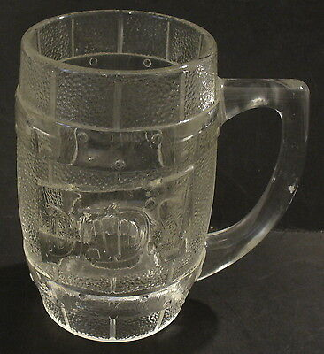 Dad's Root Beer Heavy Glass Barrel Mug