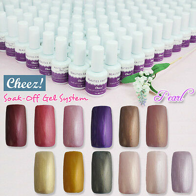 """Pearls"" Cheez! Soak-off Color UV Gel Nail Polish 15ml each"
