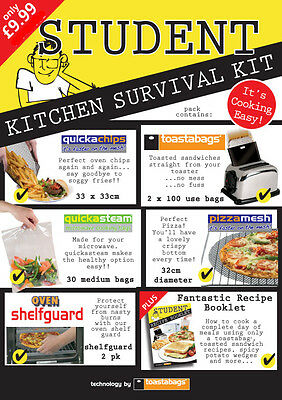 Student Kitchen Survival Pack - make cooking easy with these essentials - A MUST
