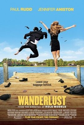 WANDERLUST MOVIE POSTER 2 Sided ORIGINAL 27x40 JENNIFER ANISTON PAUL RUDD