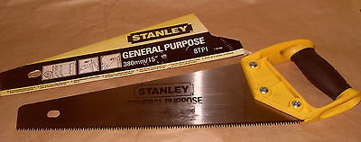 "Stanley 15""/380mm 8TPI Hand Saw - As Photo"