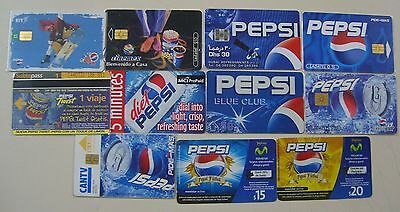Pepsi World Lot X 11 Different Mixed Phonecards
